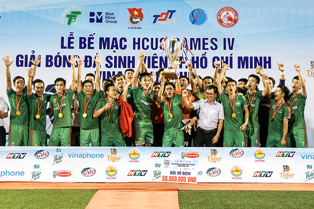 Ton Duc Thang University won Ho Chi Minh City Student Football Championship