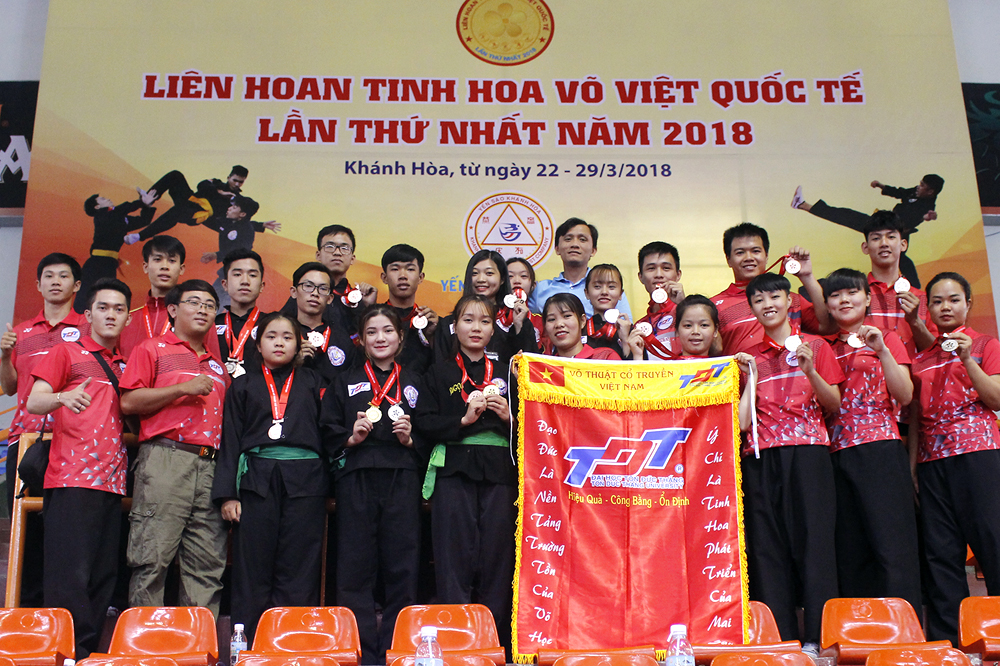 Ton Duc Thang University students at the first International Vietnamese Traditional Martial Arts Festival (2018)