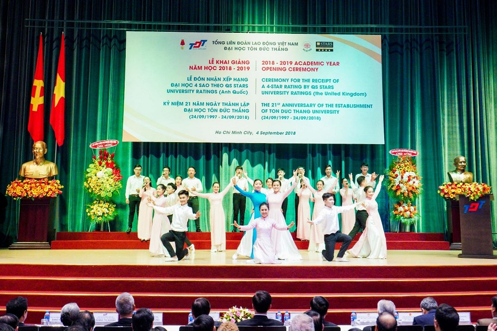 Special opening performance by TDTU's lecturers and students