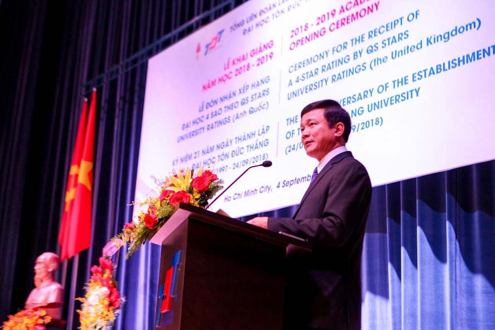 Prof. Le Vinh Danh, President of TDTU, to make his opening speech