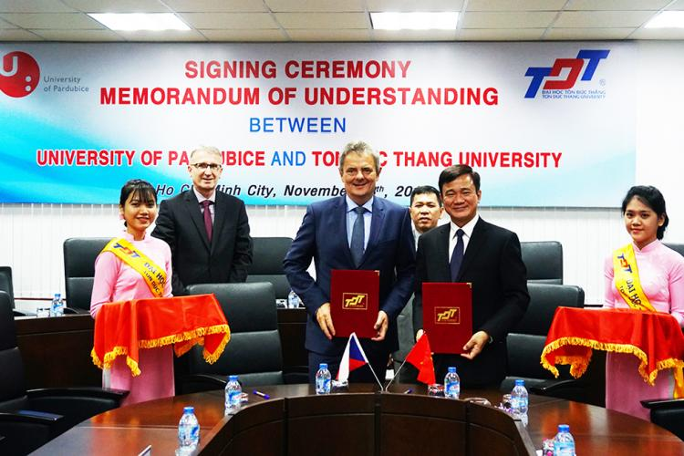 MOU Signing Ceremony of TDTU and the University of Pardubice (Czech Republic)