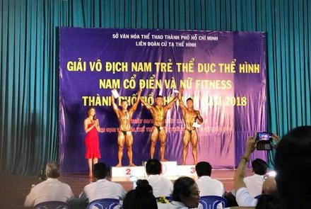 Ton Duc Thang University at 2018 Youth Men's Bodybuilding Championship in Ho Chi Minh city