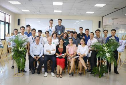 "Students of Faculty of Civil Engineering with International Project ""Cu Chi Studio 2018"""